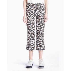 The Fire leopard printed cropped flare trouser Women Clothing FWSS XS