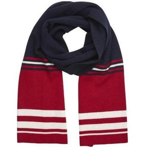 Trix red striped knitted scarf ACCESSORIES Just Female