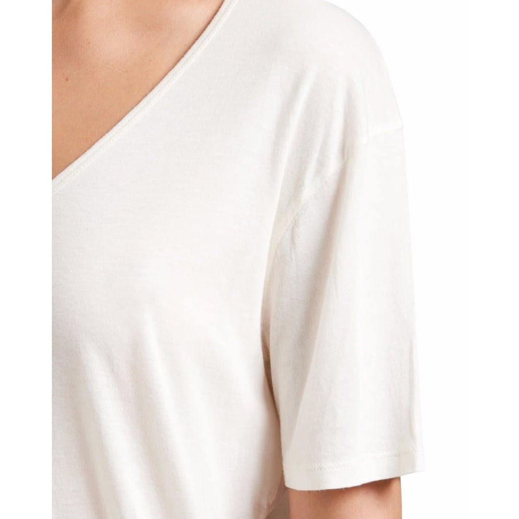 V white cotton T-shirt Women Clothing Hope 34