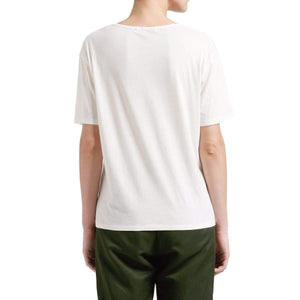 V white cotton T-shirt Women Clothing Hope