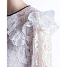 Load image into Gallery viewer, Victorian lace ruffled blouse Women Clothing ByTiMo