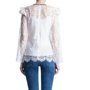 Victorian lace ruffled blouse Women Clothing ByTiMo