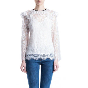Victorian lace ruffled blouse Women Clothing ByTiMo XS
