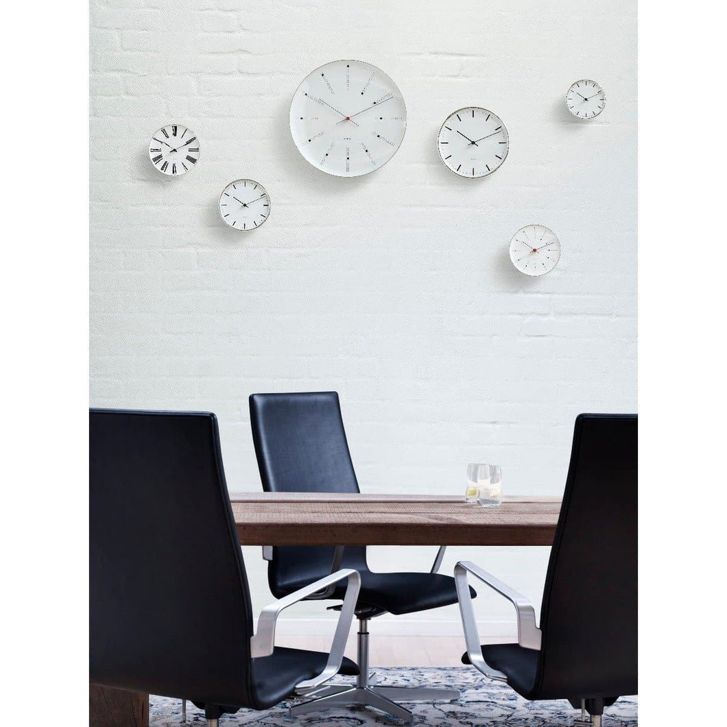 Wall Bankers Wall Clock Home Accessories ARNE JACOBSEN O/S