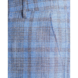 Wind wool checked wide leg trouser Men Clothing Hope