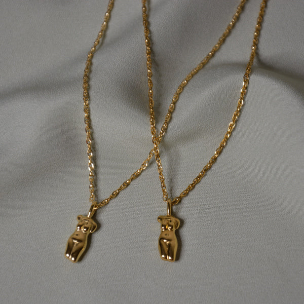 Gold body necklace DOUBLETAKE jewellery