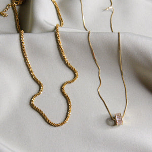 DOUBLETAKE Jewellery Christabel and Naira Gold Necklaces