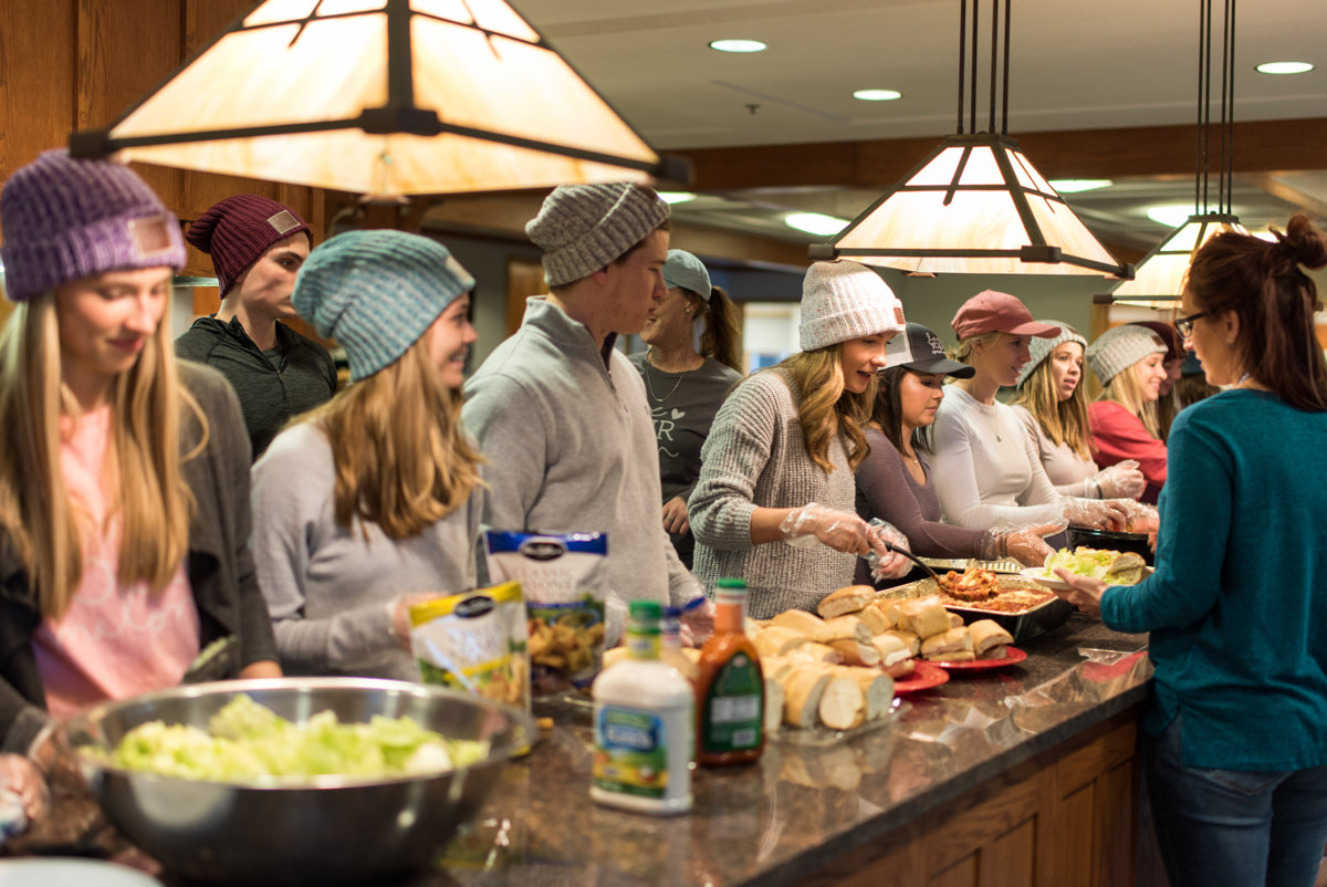 Sharing Meals, Beanies, and Smiles
