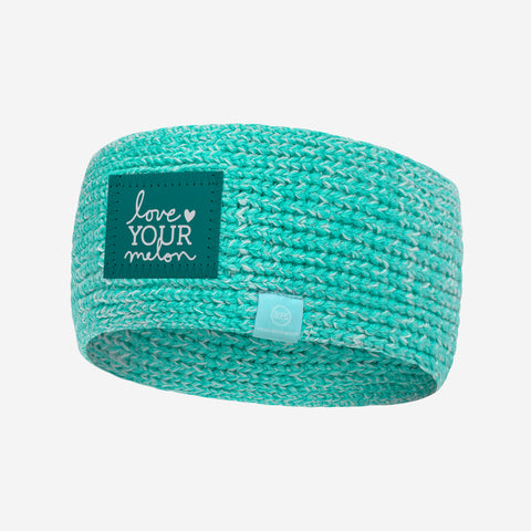 Mint and White Speckled 37.5 Knit Headband