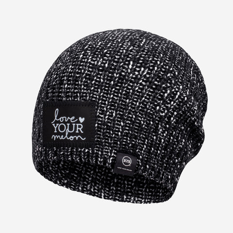 Black and White Speckled 37.5 Lightweight Beanie