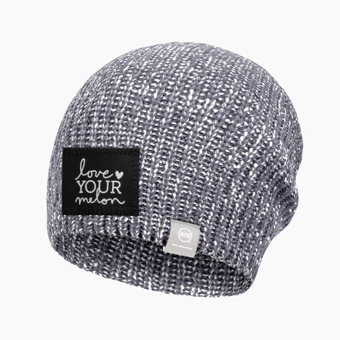 Light Charcoal and White Speckled 37.5 Lightweight Beanie