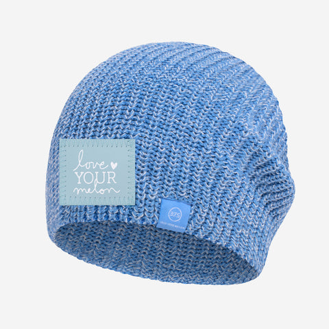 Soft Blue and White Speckled 37.5 Lightweight Beanie