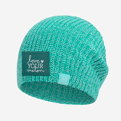 Mint and White Speckled 37.5 Lightweight Beanie