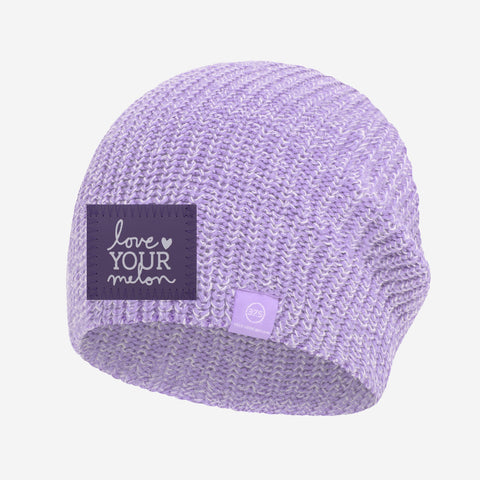 Light Purple and White Speckled 37.5 Lightweight Beanie