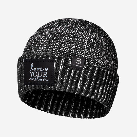 Black and White Speckled 37.5 Lightweight Cuffed Beanie