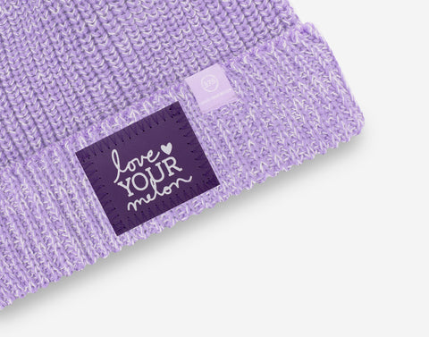 Light Purple and White Speckled 37.5 Lightweight Cuffed Beanie
