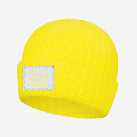 Love Your Melon Illuminating Yellow Cuffed Beanie