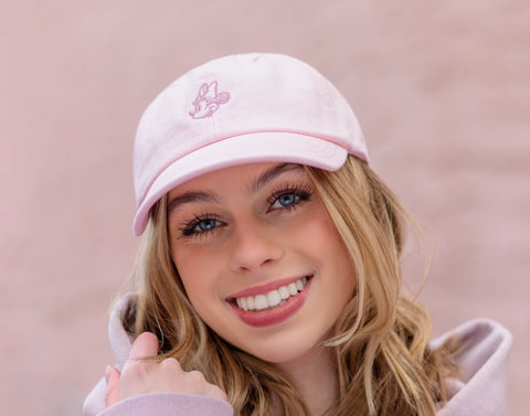 Light Pink Minnie Mouse Washed Denim Cap