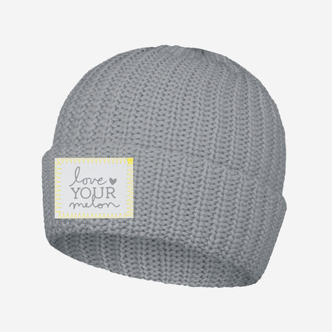 Love Your Melon Ultimate Gray Cuffed Beanie
