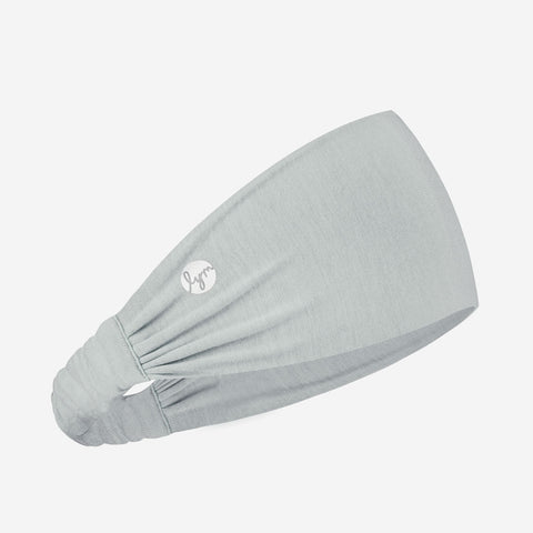 Light Gray Cursive White Logo Headband