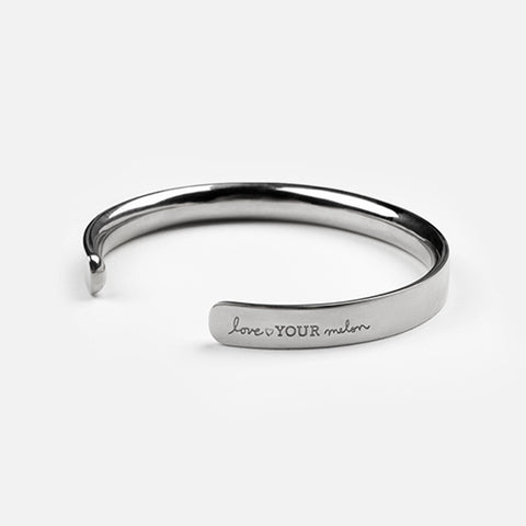 Love Your Melon Silver Cuff Bracelet