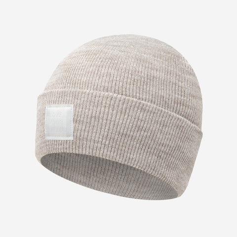White Speckled Acrylic Cuffed Beanie