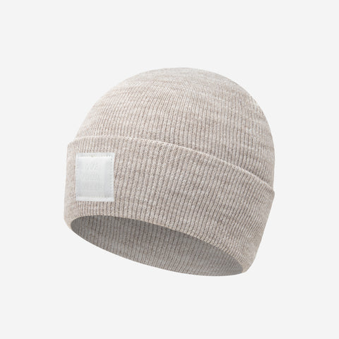 White Speckled Kids Acrylic Cuffed Beanie