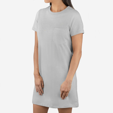 Women's Gray T-Shirt Dress
