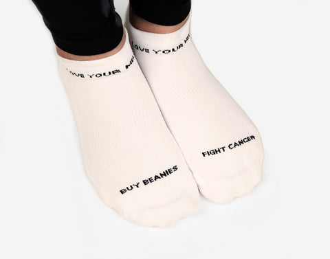 White Speckled Ankle Socks