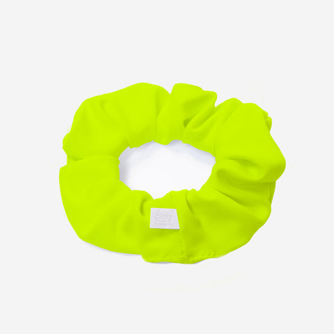 Neon Yellow Athletic Scrunchie