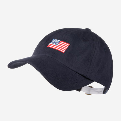 Navy American Flag Needlepoint Cap-Crew Cap-Love Your Melon