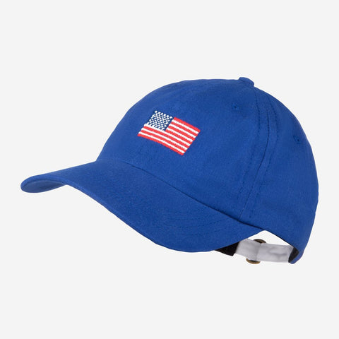 Royal Blue American Flag Needlepoint Cap-Crew Cap-Love Your Melon