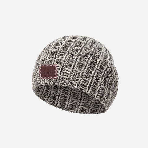 Black Speckled Baby Beanie