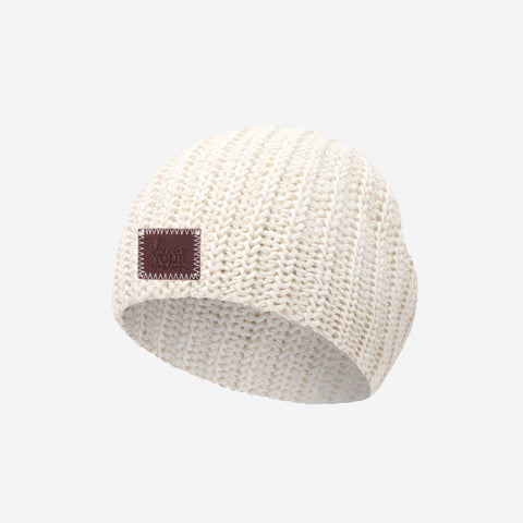 White Speckled Baby Beanie