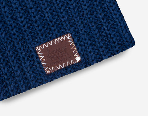 Light Navy Baby Beanie
