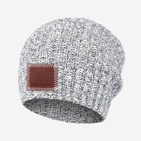 Navy Speckled Beanie