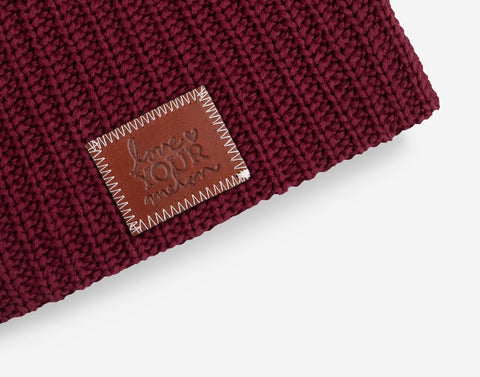 Burgundy Beanie-Beanie-Love Your Melon