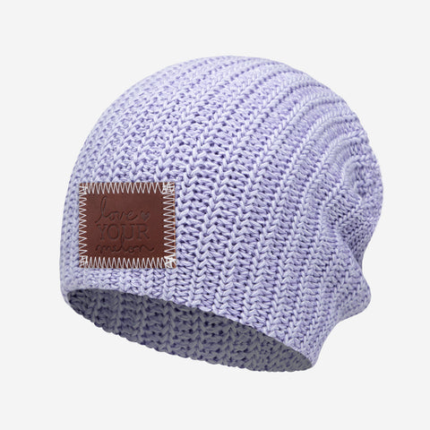 Light Purple and White Speckled Beanie
