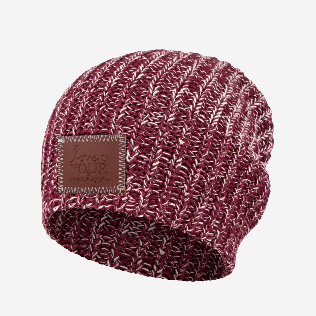 1b8cdab0ab5 Love Your Melon Burgundy and Natural Speckled Beanie