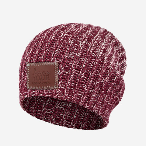 Burgundy and Natural Speckled Beanie-Beanie-Love Your Melon