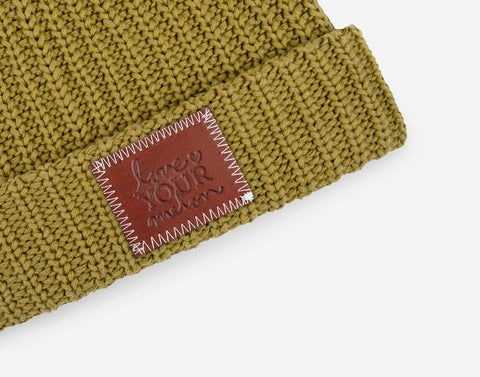 Olive Cuffed Beanie-Beanie-Love Your Melon