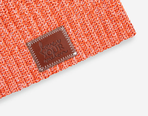 Tiger Lilly and White Speckled Beanie