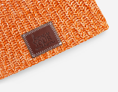 Longhorn and White Speckled Beanie