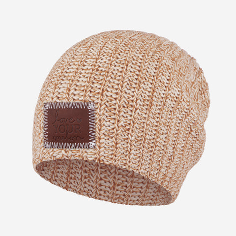 Mocha and Khaki Speckled Beanie