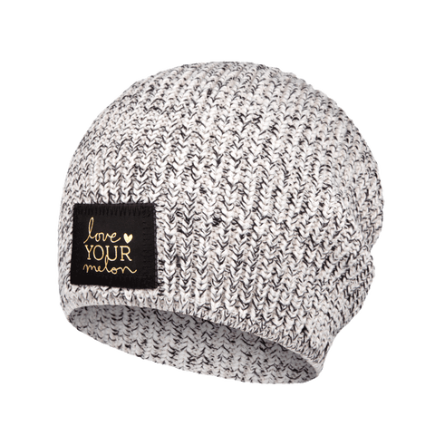 Black Speckled Gold Foil Lightweight Beanie-Beanie-Love Your Melon