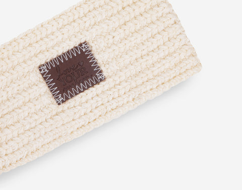 White Speckled Baby Knit Headband