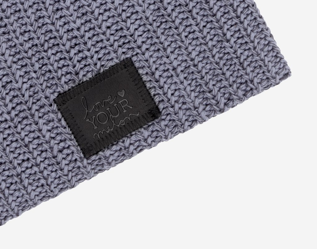 Mako Beanie (Black Leather Patch) Wholesale