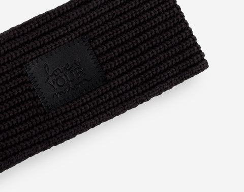 Black Monochrome Knit Headband