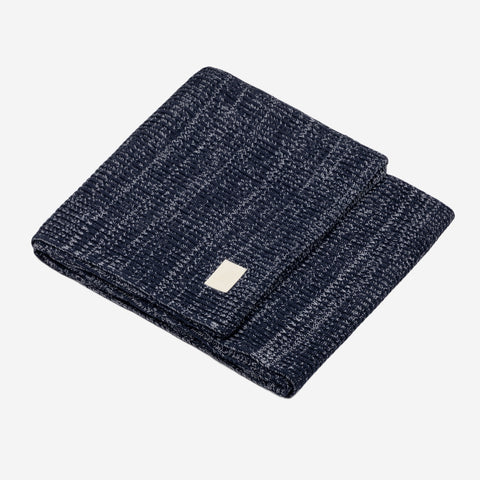 Dark Navy and White Speckled Cotton Blanket