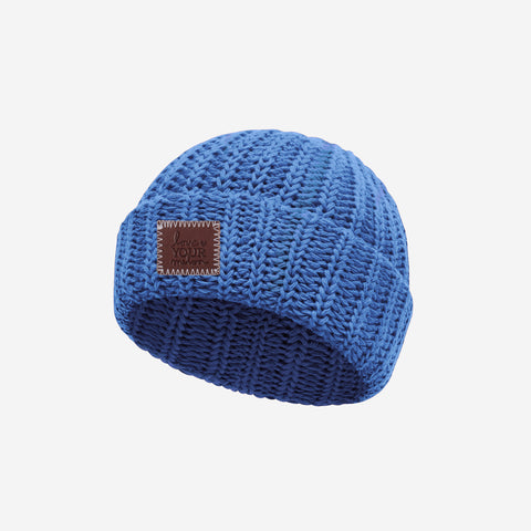 Soft Blue Classic Baby Beanie